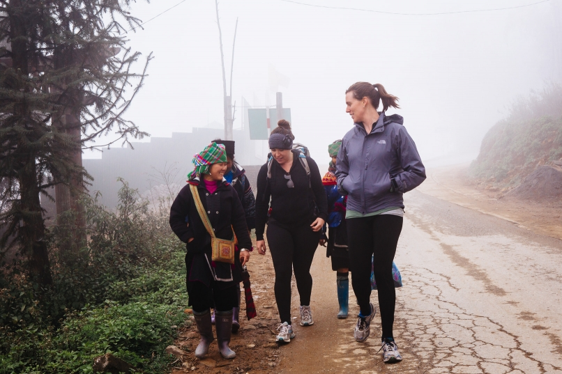 Hiking with Hmong women Sapa